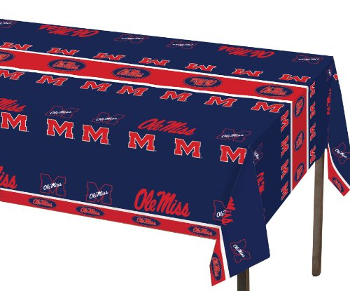 Creative Converting Mississippi Rebels Plastic Banquet Table Cover