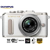 Olympus PEN E-PL8 16 MP Wi-Fi White Mirrorless Camera w/ 14-42mm IIR Silver Lens V205081WU000B - (Certified Refurbished)