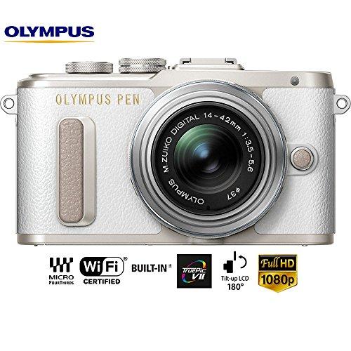 Olympus PEN E-PL8 16 MP Wi-Fi White Mirrorless Camera w/ 14-42mm IIR Silver Lens V205081WU000B - (Certified Refurbished)