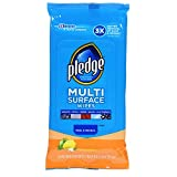 Pledge Multi Surface Everyday Wipes Fresh Citrus, 25-Count  (Pack of 4)