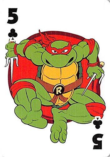 Raphael trading playing card Teenage Mutant Ninja Turtles 2009 TNNT #RAPH5 Clubs