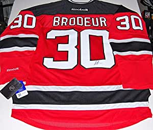 promo code dd3a1 d4b55 Signed Martin Brodeur Jersey - Reebok w coa - Autographed NHL Jerseys. Sports  Memorabilia