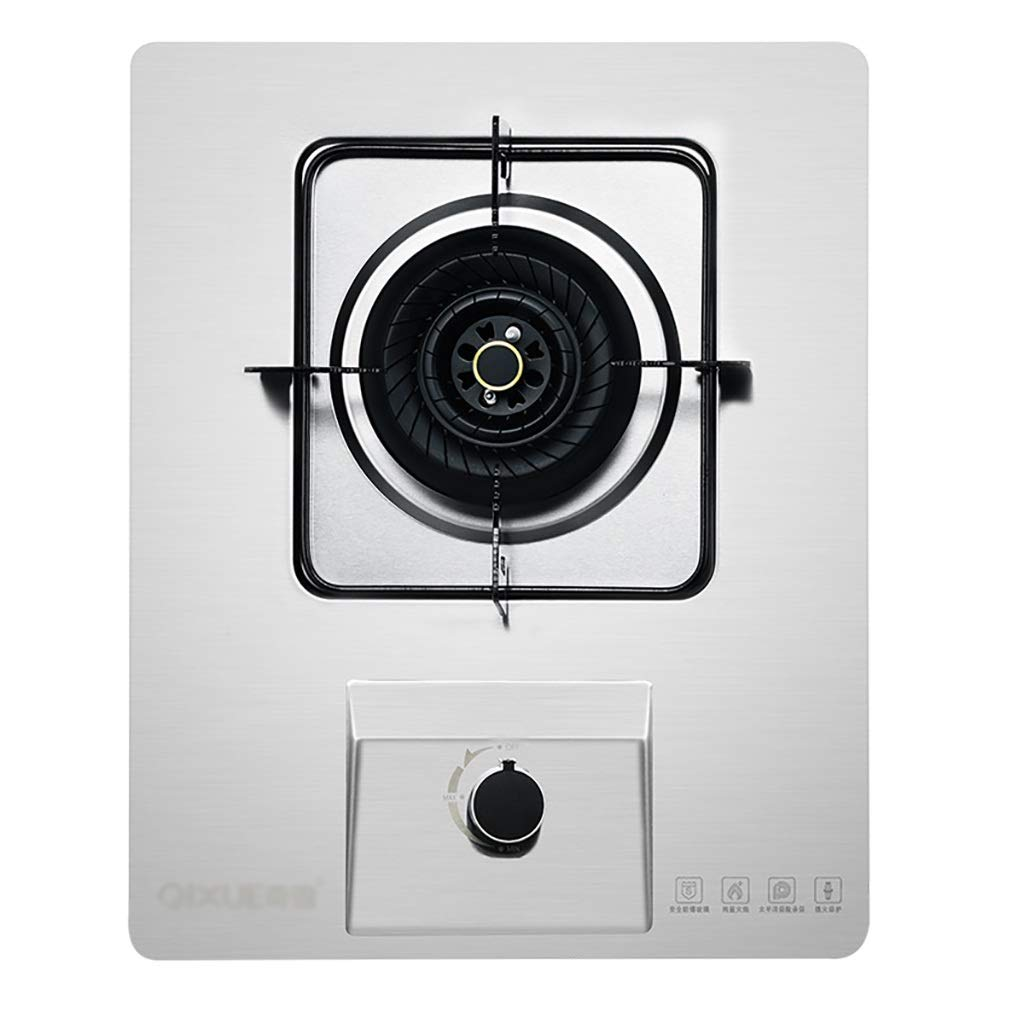 LQ-Stoves Gas Cooktops, Kitchen Tempered Glass Single Burner Cooker, Built-in, cooktop Dual-use Natural Gas Cooktops Size: L:43W:32H:8.5cm (Color : White) by LQ-Stoves