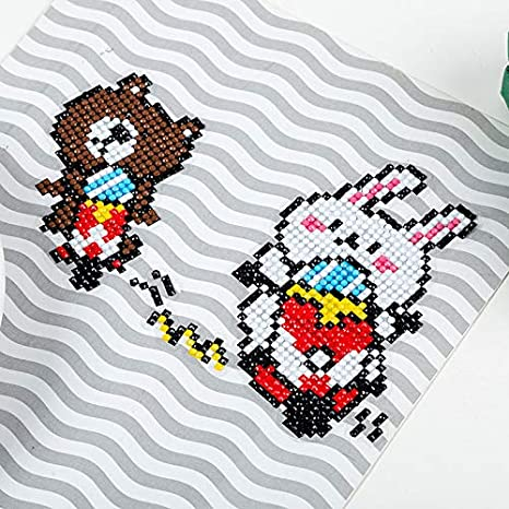 Frog sweety pop Diamond Painting Stickers Kits for Kids,Diamond Kits Paint by Numbers Diamonds,Arts and Crafts Kits for Children and Beginner Adults
