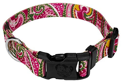 Country Brook Petz | Pink Paisley Deluxe Dog Collar (Extra Large)
