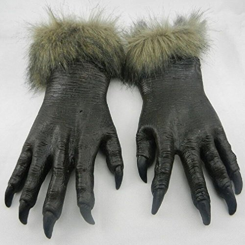 1 par de guantes de látex con diseño de lobo para Halloween, carnaval, cosplay, disfraz de fiesta ZN