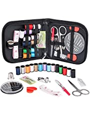 Haobase Sewing Kit for Traveler, Adults, Beginner, Emergency, DIY Sewing Kit Supplies Including Scissors, Thimble, Thread, Sewing Needles, Tape Measure etc