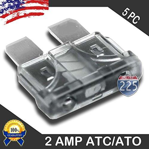 5 Pack 2 AMP ATC/ATO Standard Regular Fuse Blade 2A Car Truck Boat Marine RV