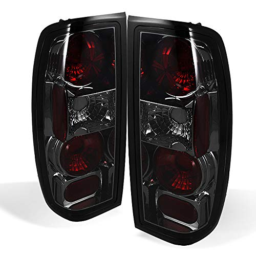 ACANII - For 1998-2004 Nissan Frontier Smoked Lens Tail Lights Rear Brake Lamps Replacement Pair Set Driver & Passenger