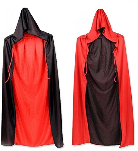 Yinasen Halloween Costumes Double-Sided Cosplay Cloak 68.9in (175cm) Pack Of 2 (Halloween Costumes Using Normal Clothes)