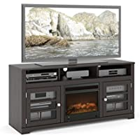 Sonax F-602-BWT West Lake 60-Inch Fireplace Bench in Mocha Black