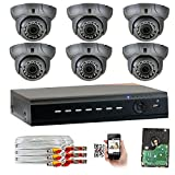GW Security 8CH AHD HD 1920 x 1080p Outdoor Indoor DVR Security System with (6) x 1920TVL 2.8-12mm Varifocal Zoom Lens 1080P Dome Cameras, QR Code Remote Access Review