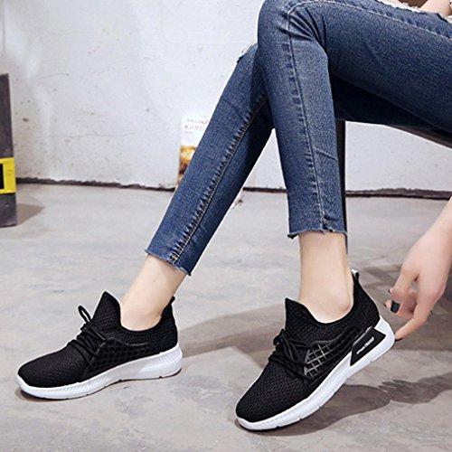 Zapatos Atada Aire Correr Mujer Graceful Libre para De EláStica SóLido Color Mujer para Running Deportes Y Zapatillas Naturazy ❤ Tela para Mujer Casuales Zapatos Gimnasia Negro Cruz TriatlóN Zapatos OOxnWzvrq