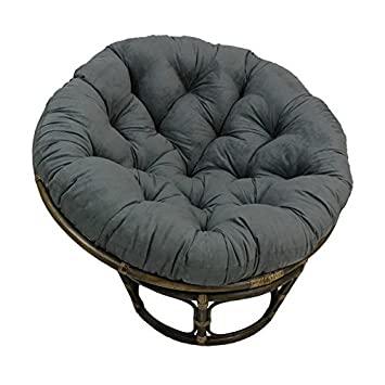 rattan 42 inch papasan chair with micro suede cushion