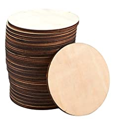 Protect your table and counter tops from white water stains with these simple coasters. Not only are they suitable for hot beverages, they're also the perfect accessory to compliment your cold summer beverages. The package comes with 24 woode...