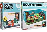 AYB School Bus Stop Bundle Cartman South Park Cartoon Building Toy Classroom Mr. Garrison / Kyle + Kenny & Stan 2 Pack