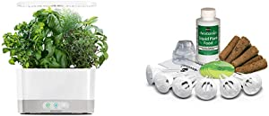 AeroGarden Harvest-White Indoor Hydroponic Garden & 806528-0208 Seed kit, 6-pod