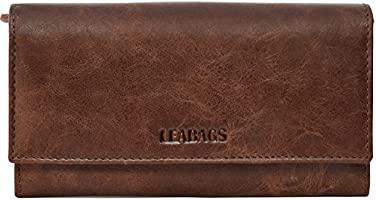 LEABAGS Charlotte genuine leather womens wallet in vintage style