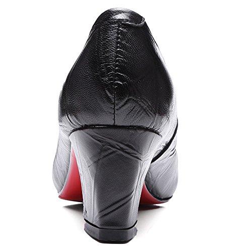 mujer SevenPump con Nine negro Shoes cuña Sandalias xwPx7X0Zq