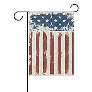 U LIFE decorative vintage Estados Unidos estrellas y rayas bandera Banner para fuera de casa patio jardín maceta de doble cara impresión 40x 28cartucho 12x 18pulgadas, color rojo y azul