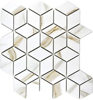 Mosaik Fliese Keramik wei/ß Hexagon Calacatta f/ür WAND BAD WC DUSCHE K/ÜCHE FLIESENSPIEGEL THEKENVERKLEIDUNG BADEWANNENVERKLEIDUNG Mosaikmatte Mosaikplatte
