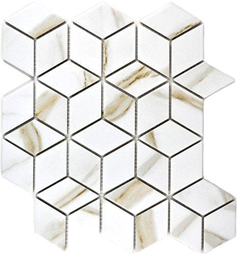 Mosaic tile ceramic white diamond POV Calacatta for wall bathroom toilet shower kitchen tile mirror counter cladding…