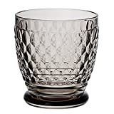 Boston Old Fashioned Rocks Glasses Box Set of 4 by Villeroy & Boch - Dishwasher Safe - Made in Germany - Premium Crystal Glass - Smoke Gray Color - 10 Ounce Capacity