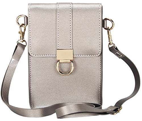 ens Crossbody Faux Leather Wallet-Her Gift(5 Color) (Champagne) ()