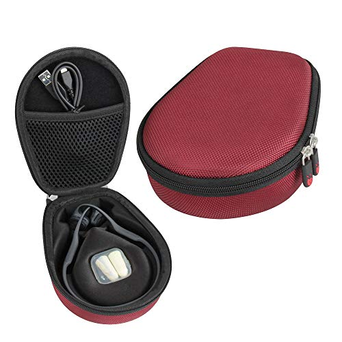 Hermitshell Travel Case Fits AfterShokz Trekz Air Open Ear Wireless Bone Conduction Headphones AS650 (Canyon Red)