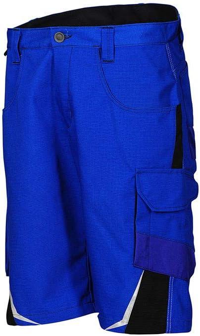 K/ÜBLER PULSSCHLAG Arbeitsshorts blau Herren-Arbeitsshorts aus Mischgewebe Gr/ö/ße 48 leichte Arbeitsshorts von K/ÜBLER Workwear