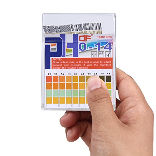 (pH Test Strips 0-14, 0.5 Accuracy 100ct, Esee pH Strips pH Test Paper to Test Drinking Water, Food, Pools, Aquariums, Monitor Body pH Levels for Alkaline & Acid Using Saliva and Urine)