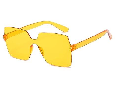 Gafas De Sol Gafas De Sol De Una Pieza De Color Caramelo ...