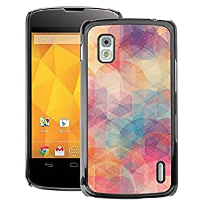 A-type Arte & diseño plástico duro Fundas Cover Cubre Hard Case Cover para LG Nexus 4 E960 (Pastel Colors Teal Art)
