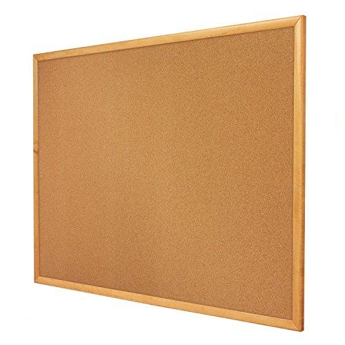 4' Cork Boards - Quartet Cork Bulletin Board, 4 x 3 Feet, Corkboard, Oak Finish Frame (304)