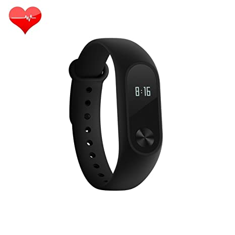 [2016 Newly LED Display Mi Band],Xiaomi Mi Band 2 With LED Display Touchpad  Smart Heart Rate Monitor Fitness Tracker Pedometer Waterproof Wireless