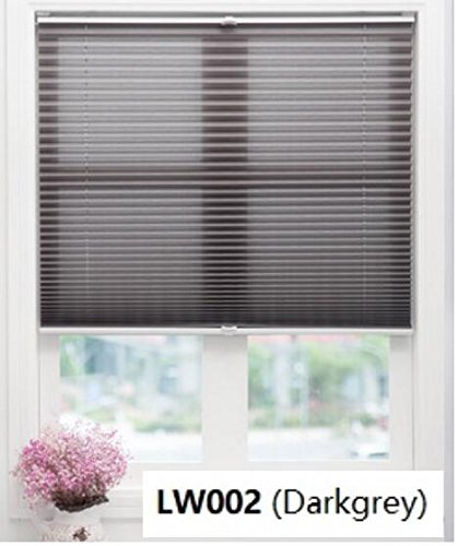 karlleo-curtain Top-Down/Bottom-Up Window Pleated Plisse Blinds Shades(Listed Price at(1pc,39″ W x 39″ L,Color:A01),Finished Blinds,Contact us for More Sizes or Colors (Dark Grey)