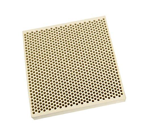 Honeycomb Ceramic Block Square w/ 1,050 Holes (2 mm Diameter) 100 mm x 100 mm x 21 mm Jewelry Soldering Tool