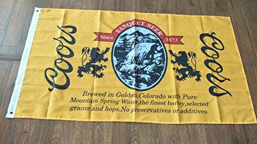 Coors The Banquet Beer Flag 3' X 5' Deluxe Indoor Outdoor Banner