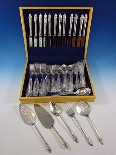 Evening Star by Community Plate Silverplate Flatware Set Service For 12 69 Pcs