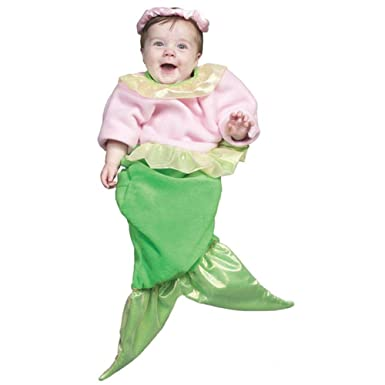 pink baby mermaid halloween costume size0 9m - Baby Mermaid Halloween Costume