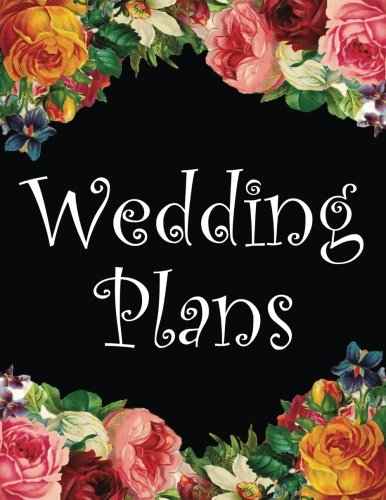 Wedding Plans Floral Lined Notebook Writing Journal Engagement Gift (8.5 X 11)