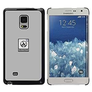 CASEX Cases / Samsung Galaxy Mega 5.8 9150 9152 / Do Not Feed - Funny # / Delgado Negro Plástico caso cubierta Shell Armor Funda Case Cover Slim Armor Defender