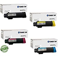 Toner Tap for Xerox Phaser 6510, WorkCentre 6515 Compatible Toner Replacement High Yield (4 PACK, KCMY)