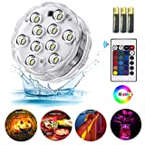 Submersible led Lights,RGB Waterproof Mood Lights with Remote Control for Hot Tub Vase Base Pond Swimming Pool Aquarium Party Fish Tank 1pack