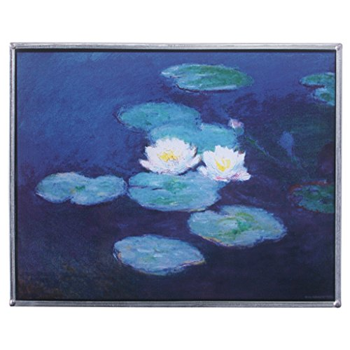 Stained Glass Panel - The Monet Water Lilies Stained Glass Window Hangings - Art Glass Window Treatments (Lily Window Panel)