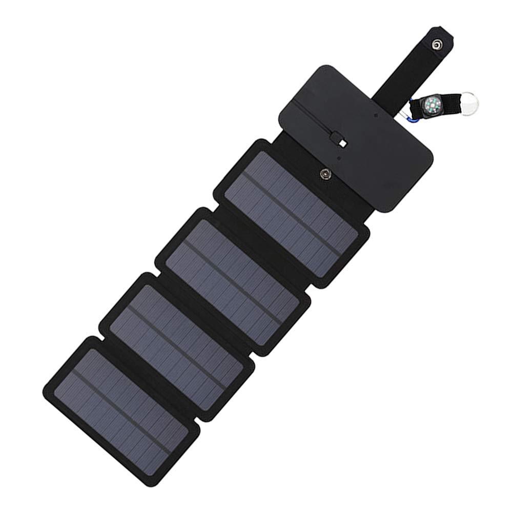 f/ür den Au/ßenbereich Tablets und mehr 4 fold Wie abgebildet faltbares Handy-Ladeger/ät iPad Solarbetriebene Platte tragbar wasserdicht Ersatz f/ür Handy Solar-Ladeger/ät 7,5 W