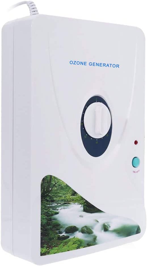 KKmoon Generador de ozono Portátil Purificador de Aire para hogar Ozonizador O3 600 MG/Temporizador Purificadores de Aire Purificar Aceite Vegetal Carne Aire Agua