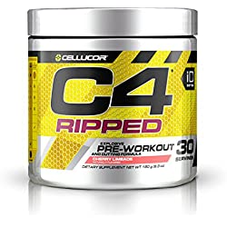 Cellucor, C4 Ripped, Explosive Pre-Workout Supplement and Cutting Formula, Cherry Limeade, 30 Servings