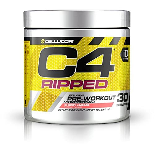 Cellucor C4 Ripped Pre Workout Powder + Fat Burner, Fat Burners for Men & Women,  Weight Loss & Energy, Cherry...