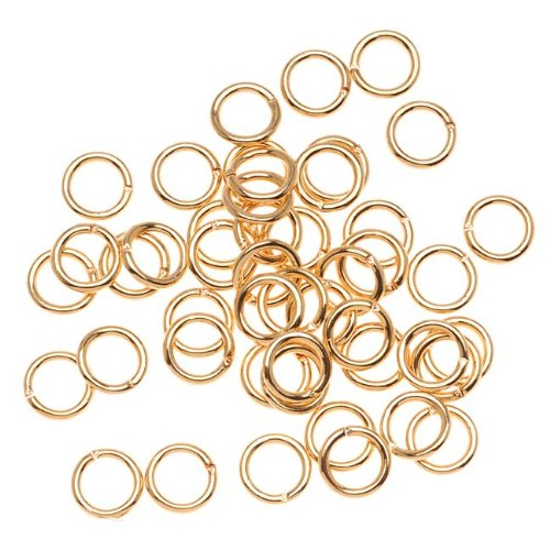 Beadaholique JR/036X6G 100-Piece Open Jump Rings, 6mm, 22K Gold
